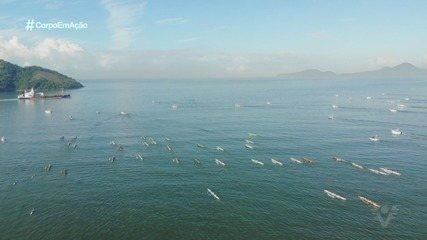 16ª Volta à Ilha de Santo Amaro de Canoa Havaiana realiza maior largada do Brasil