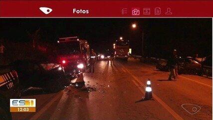 Acidente deixa um morto e seis feridos na BR-262 em Ibatiba, ES