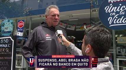 Eric Faria flagra Abel Braga na farmácia em Quito