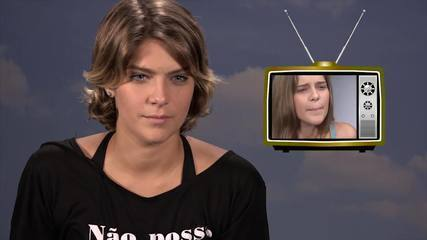 Isabella Santoni revê primeiro teste na TV Globo; assista!