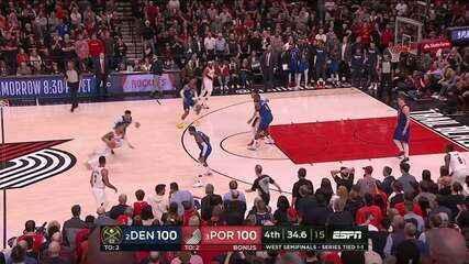 Melhores momentos: Portland Trail Blazers 140 x 137 Denver Nuggets pela NBA