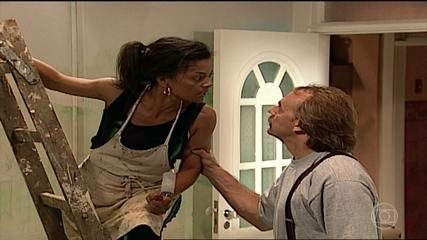 Wilson e Márcia discutem
