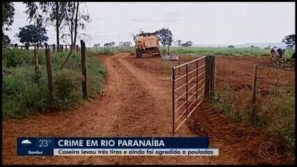Caseiro de fazenda é agredido e morto a tiros na zona rural de Rio Paranaíba