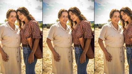 Nívea Maria e Juliana Paes comemoram terceiro trabalho juntas como mãe e filha.