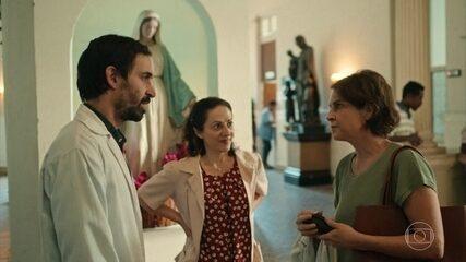 Drª Vera é recepcionada por Evandro e Charles no São Tomé Apóstolo