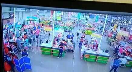 Assalto em supermercado de Cuiabá