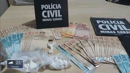 Homem é preso vendendo drogas em posto ao lado de delegacia em Poços de Caldas