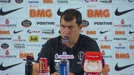 Fábio Carille analisa o empate do Corinthians com o Grêmio
