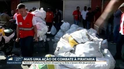 Prefeitura e Polícia fecham shopping no Brás