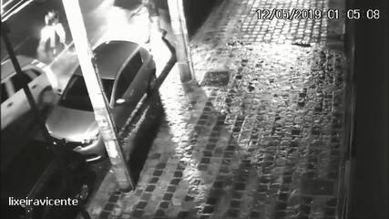 Imagens mostram policias atirando contra carro de Andrei na Vicente Machado