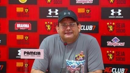 Veja a coletiva na íntegra de Guto Ferreira, do Sport