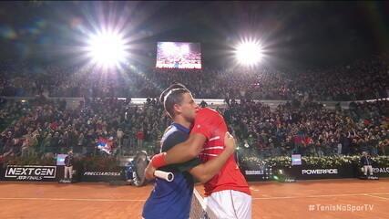 Veja os melhores momentos da vitória de Djokovic contra Diego Schwartzman na semifinal do Masters 1000 de Roma