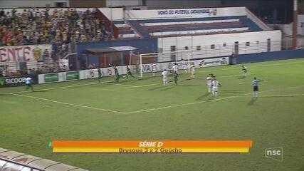 Brusque vence o Gaúcho e mantém 100% na Série D