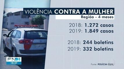 Casos de violência contra a mulher aumentam no Oeste Paulista