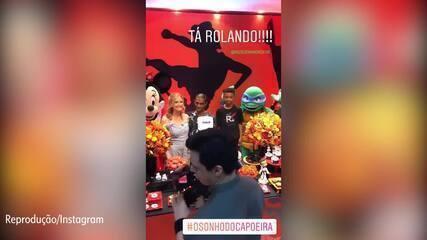 Fernanda Rodrigues mostra festa do filho de Capoeira