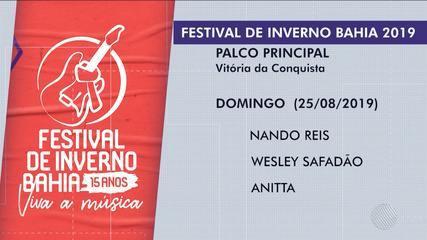 Festival de Inverno anuncia atrações da grade de shows