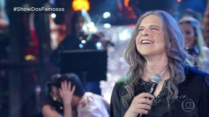 Diogo Nogueira homenageia Angela Ro Ro no Show dos Famosos