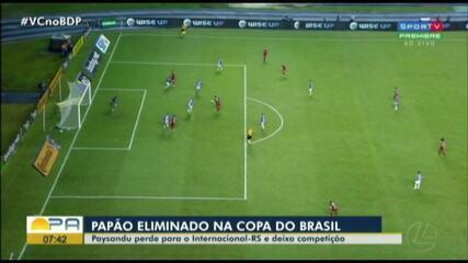 Veja os melhores momentos de Paysandu 0 x 1 Internacional