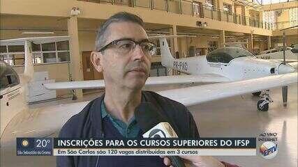 IFSP abre inscrições para 120 vagas em São Carlos