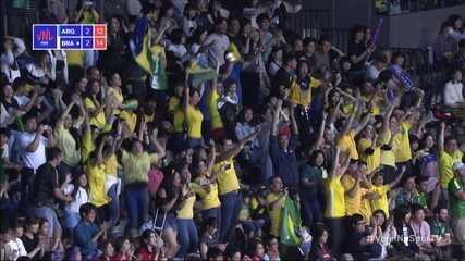 Melhores momentos: Argentina 2 x 3 Brasil pela Liga das Nações de Vôlei Masculino
