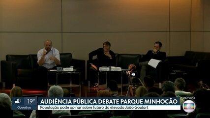 Audiência pública decide o futuro do Minhocão