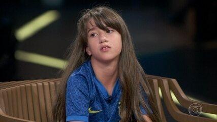 Conheça Juju Bola, considerada promessa do futebol