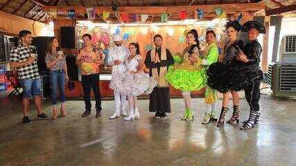 Grupo Cultural Luar do São João explica os personagens de uma quadrilha junina