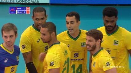 Melhores momentos: Brasil 3 x 0 Portugal pela Liga das Nações de Vôlei
