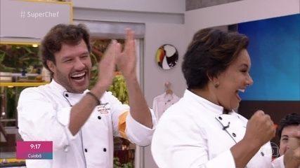 Solange Couto e Nando Rodrigues ganham a imunidade no 'Super Chef Celebridades 2019'