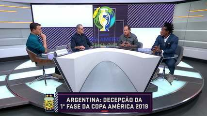 Comentaristas falam da campanha da Argentina na primeira fase da Copa América
