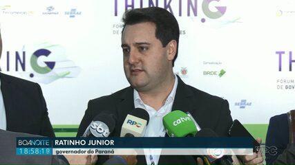 """""""Greve pequena"""" diz governador do Paraná sobre a greve dos servidores estaduais"""