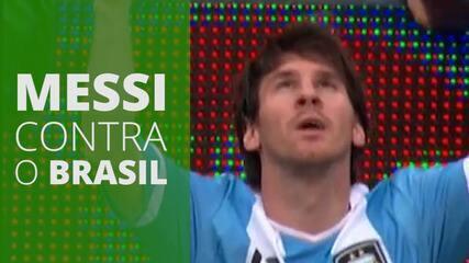 Reveja todos os gols de Messi contra o Brasil