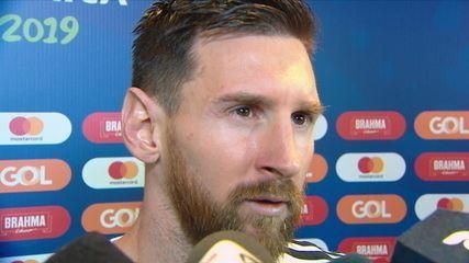 Messi diz que Argentina lutou muito e Brasil não foi superior na partida