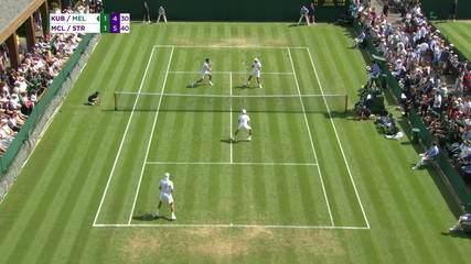 Melo e Kubot salvam set point e reagem em Wimbledon