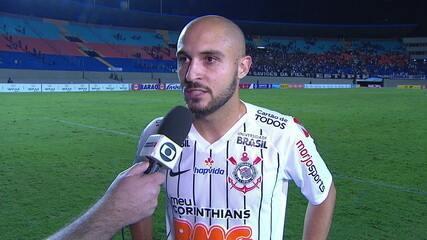 Régis fala de gol marcado com a camisa do Corinthians diante do Vila Nova-GO