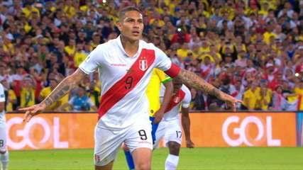 Gol do Peru! Após ser parabenizado por VAR, árbitro marca pênalti e Guerrero balança as redes