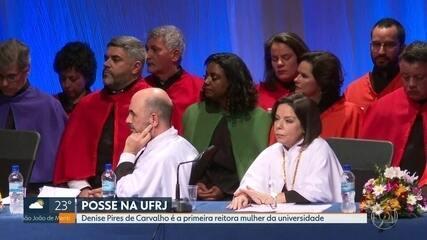 Nova reitora da UFRJ, Denise Pires de Carvalho assumiu o cargo em 8 de julho