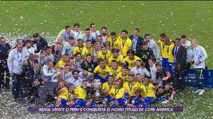 Brasil vence Peru e torna-se campeão da Copa América pela nona vez