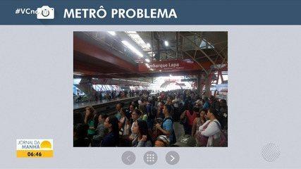 Árvore cai em fiação elétrica que alimenta o metrô de Salvador e serviço é afetado
