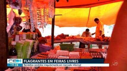 Flagrantes de vendas de remédios em feiras livres da capital