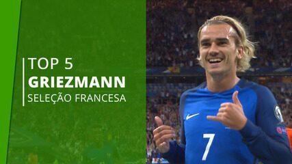 Top 5: golaços do Griezmann pela seleção da França