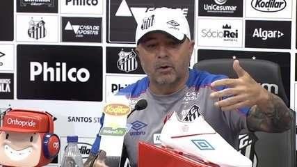 Veja a entrevista de Jorge Sampaoli no Santos