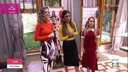Carla Diaz veste looks com peças de verão e inverno para a estação mais glamourosa do ano