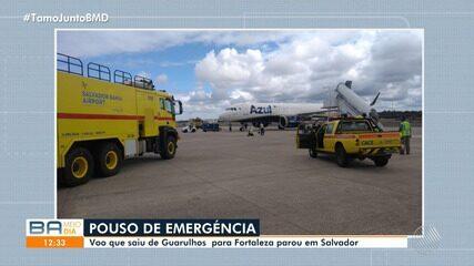 Aeronave faz pouso de emergência no aeroporto de Salvador