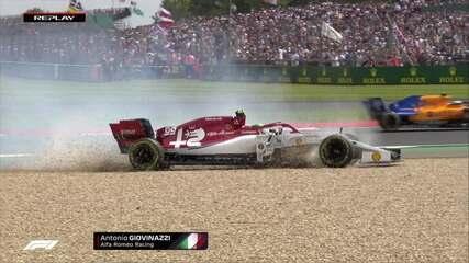 Giovinazzi sai da pista após escapada