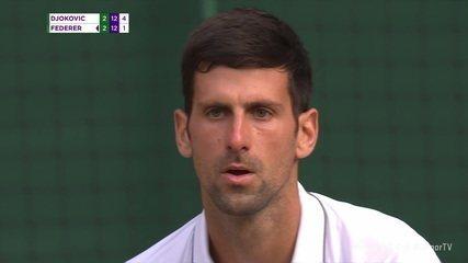 Tie-break final da decisão masculina do Torneio de Wimbledon Djokovic x Federer
