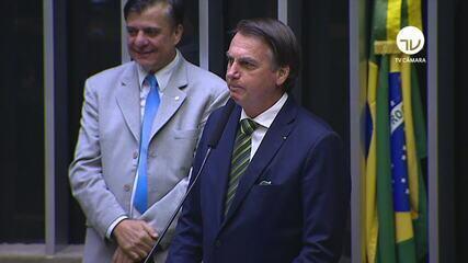 Em discurso, Bolsonaro exalta ministro da AGU: 'Terrivelmente evangélico'