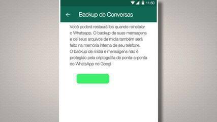 Desligue o backup na nuvem das suas conversas