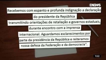 Governadores do Nordeste rebatem declaração de Bolsonaro em carta aberta
