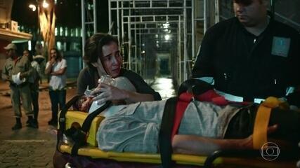Diana bate de carro ao levar Evandro para o hospital